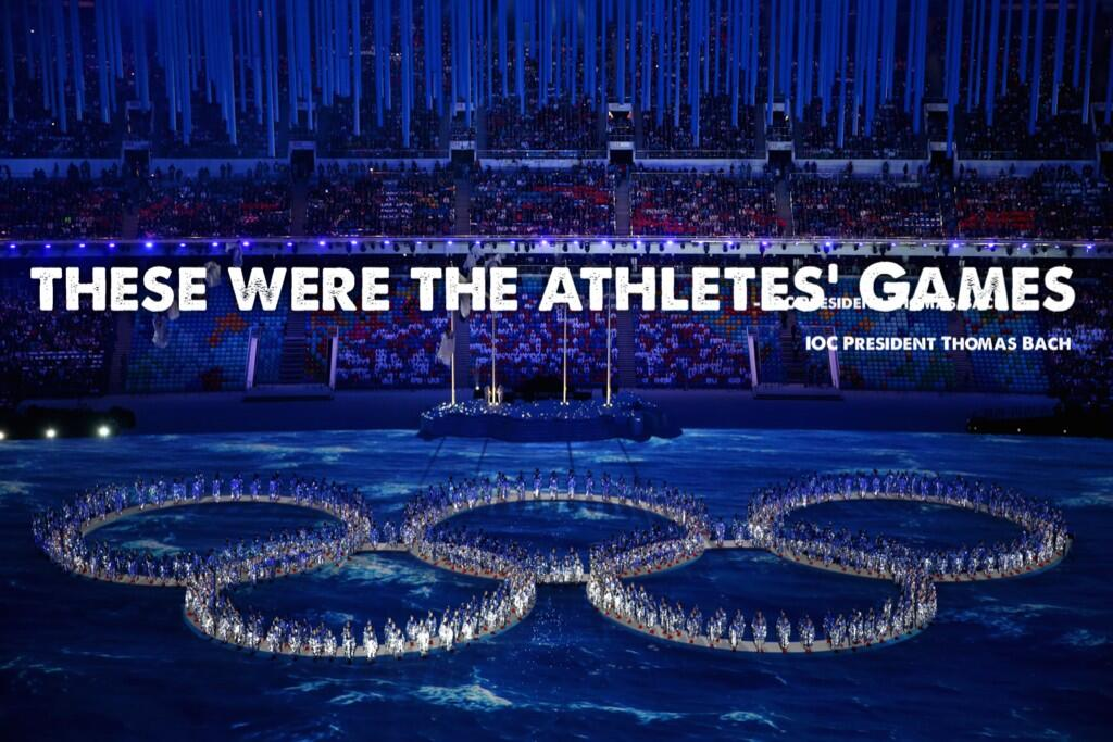 Goodbye @Sochi2014 These were the athletes' Games #olympics http://t.co/wrpsmgouwZ
