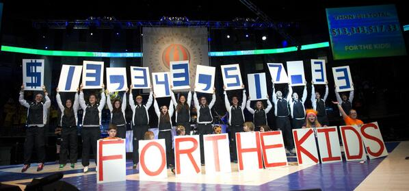 The big $13.3 million reveal, a new record FTK! #THON14 http://t.co/Rc1MKwUBsW