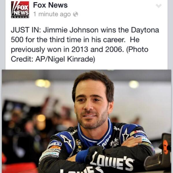 Congrats Fox News!!! Hahahaha #fail #nascar http://t.co/vaOL5Jv685