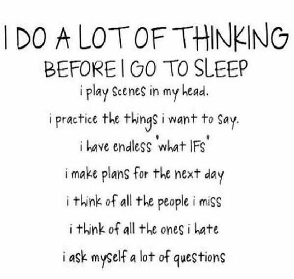 Overthinking always! Goodnight. http://t.co/rNd94x9EE5