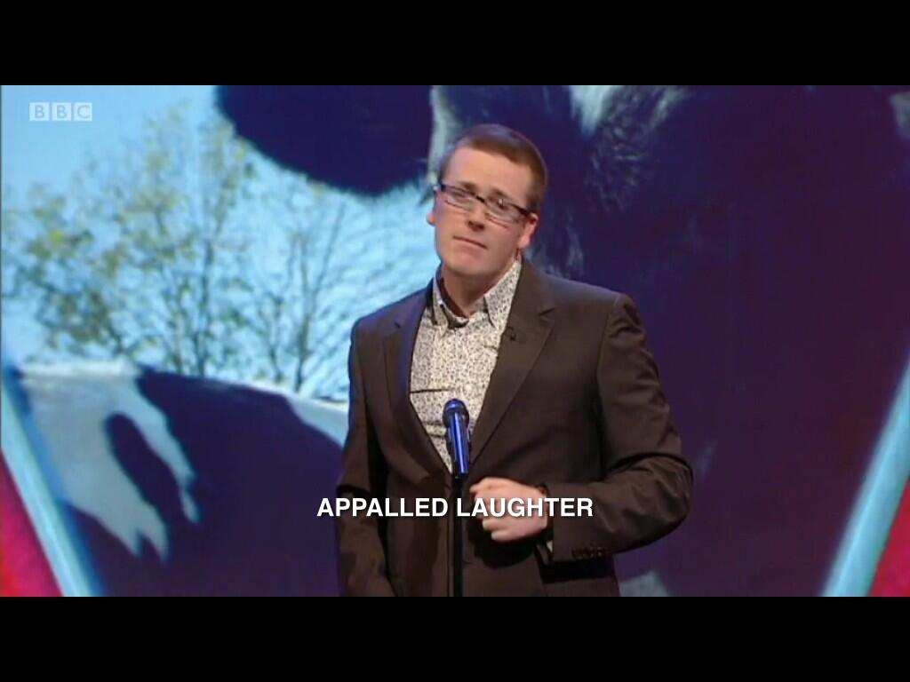 RT @iheartsubtitles: Accurate :) RT @elipayne1993: Best way to describe @frankieboyle and his comedy? Look no further than BBC subtitling. …