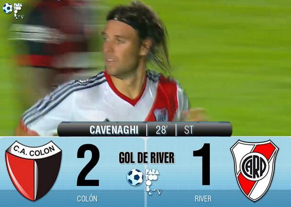 2ème but pour Cavenaghi, mais défaite de River