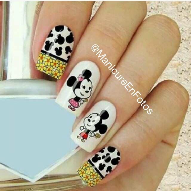 Magnífico Mickey Y Minnie Arte De Uñas Galería - Ideas de Diseño de ...
