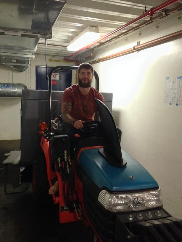 The Wookie @Burnzie88 riding my zamboni. Fear the Fin. And the Wookie butt check. http://t.co/zKvRlKlcUc