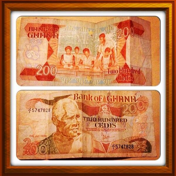 ghana on twitter old ghana currency 200cedis note http t co