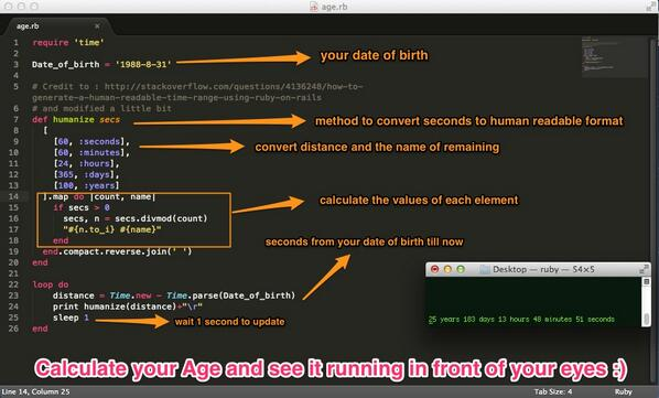 Calculate your age in years, days, hours, minutes, seconds