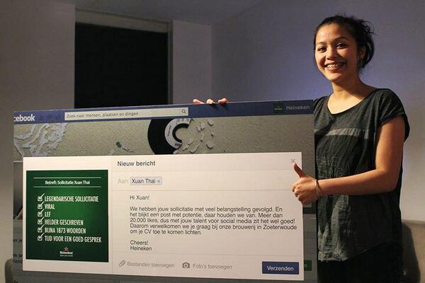 Heineken heeft gereageerd op de open FB sollicitatie van Xuan  https://t.co/DVAii2fQUh (via @yizmo) http://t.co/6PoKfurW88