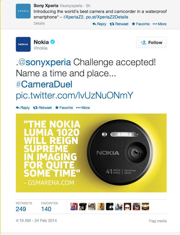 Best what ? @nokia response to @sonyxperia  :-D http://t.co/VM6DlgYXPi