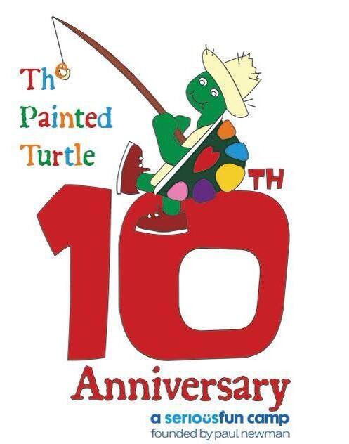 Happy 10th anniversary to one of our national philanthropies, The Painted Turtle Camp! @PaintedTurtleCA!