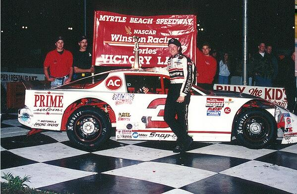 In honor of @DaleJr's #Daytona500 win, here's his 1st #NASCAR win - at @mbspeedway (Myrtle Beach) in 1994 #NWAAS http://t.co/lAuer4JwjH