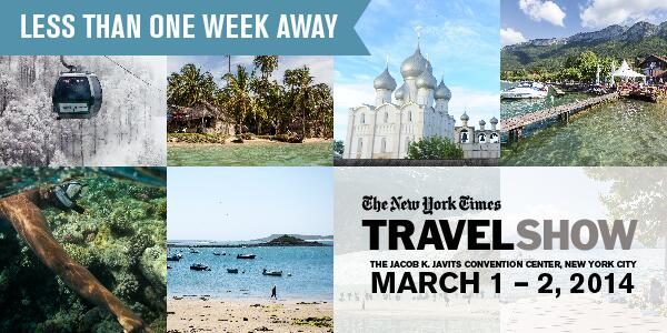 Don't miss the NYTimes Travel Show. Get your tickets today! Use code SOCIAL for $3 off. http://t.co/BQNtPF2oIv