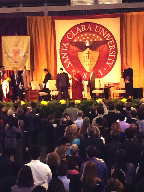 His Holiness has arrived #DalaiLamaSCU http://t.co/Ix4xh4gxFV