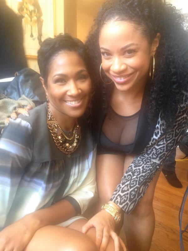 Our beautiful client @PicturMeRollin alongside the funny and beautiful @terrijvaughn on set #wheresthelove http://t.co/5fifcwMuBb