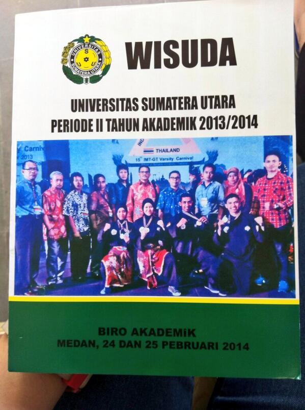 Muhammad Fachrurrozi Twitter Tim Silat Jadi Cover Buku Wisuda 2013
