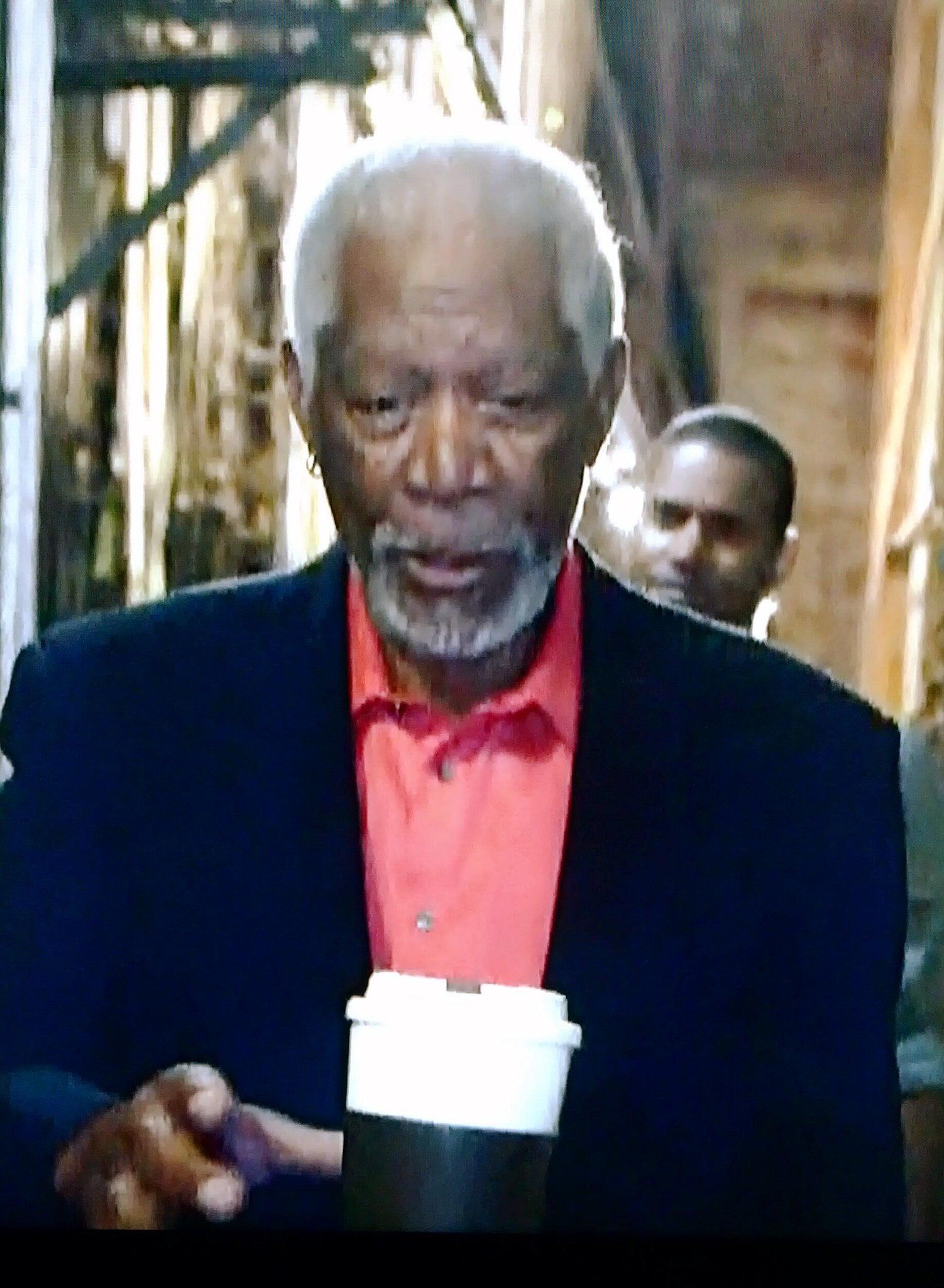 Twitter / hermancta: Why does Morgan Freeman drink ...