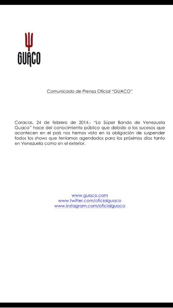 Hola queridos fans, enviamos a todos nuestros seguidores un mensaje muy importante #pazvenezuela#tolerancia#trabajo http://t.co/sUN5hcGWOK