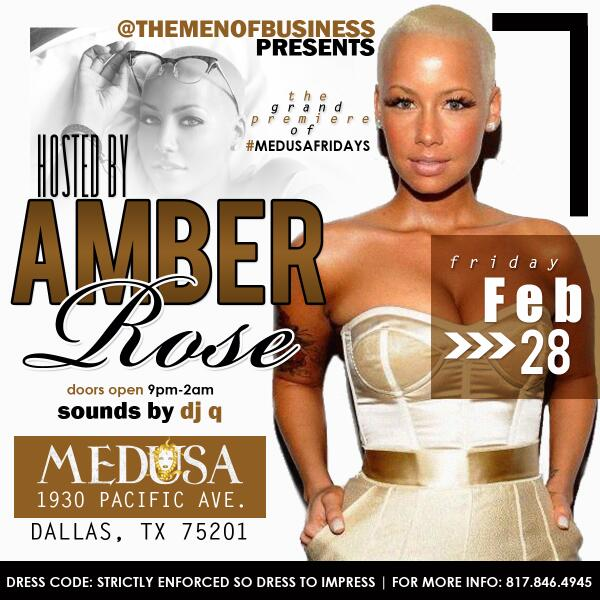 This Friday Amber Rose hosts Medsua, Dallas get ready! http://t.co/UCqct28dhT