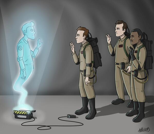 "Perfection. ""@Mega_Ashra: Instead of Wednesday's comic, this is what will be put up. RIP Harold Ramis :_( http://t.co/zYn4H7yAZm"""