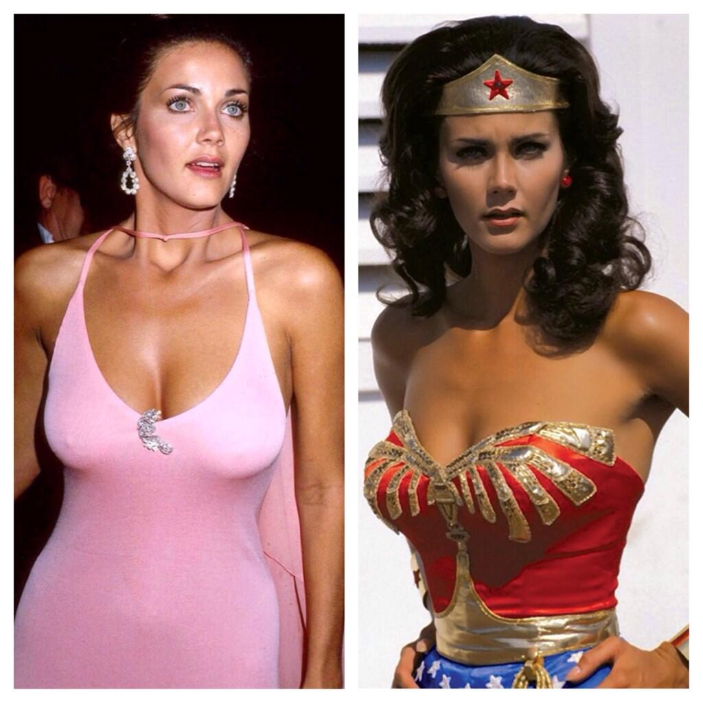 FAF lady of the day. It's a vintage, first ever crush Linda Carter aka Wonder Woman and oh how I wonder! Silk! http://t.co/LyfYG9hORY