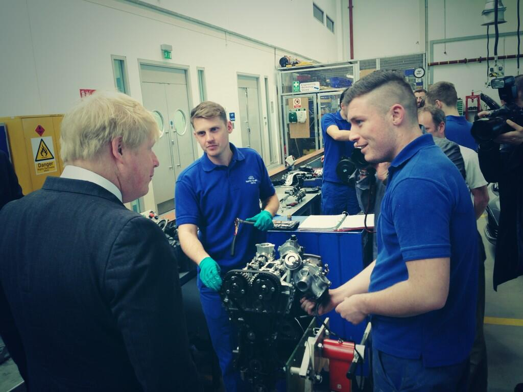 .@ElutecUTC will open this Sept. Was also great to meet some of @forduk  apprentices & discuss their training 2/2 http://t.co/Cx9VBOEd8I