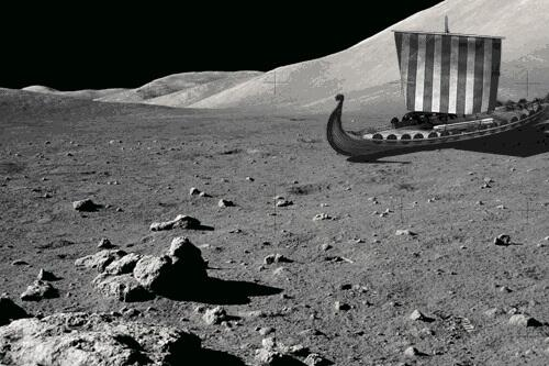 """Whilst we know the Vikings """"discovered"""" America, this new photo by NASA suggests they went way further than that. http://t.co/5Bwo5ni13m"""