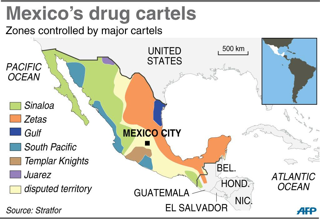 Afp News Agency On Twitter Quot Map Of Mexico Showing Zones