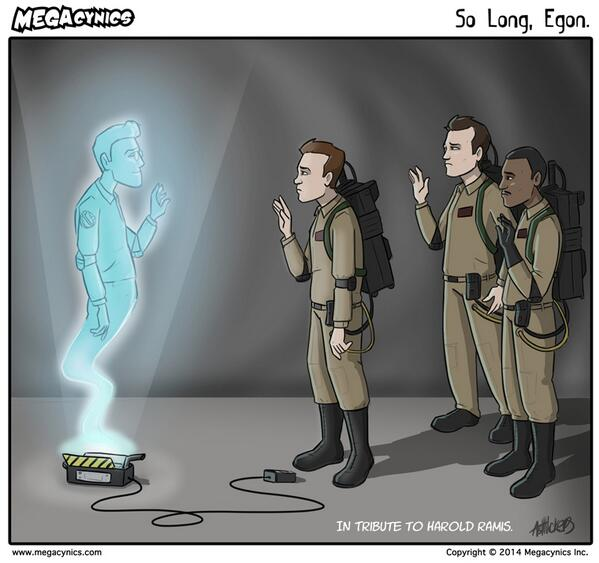 Touching tribute to Ghostbusters star Harold Ramis from comic artist @Mega_Ashra: http://t.co/HIgBl5Xdv9 http://t.co/9YzMdQa9eg
