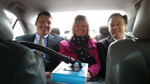 #naespnlc @TEPSAtalk Scot Clayton, Belinda Neal, and Casey Neal on the way to ths Hill. http://t.co/kSdWn4C2nW