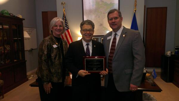 Honoring Senator Franken with the NAESP  Congressional Champion Award! #NAESPnlc @KellyPollitt @MESPAprincipals http://t.co/ScArs9sLqx