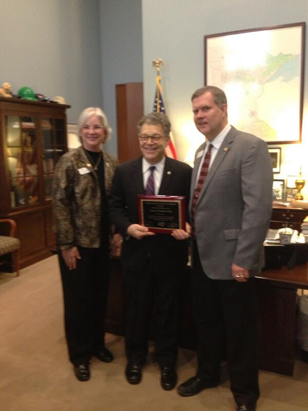 Senator Franken received the first NAESP Congressional Champion Award #mespamn #naespnlc http://t.co/db6NYCwaHW