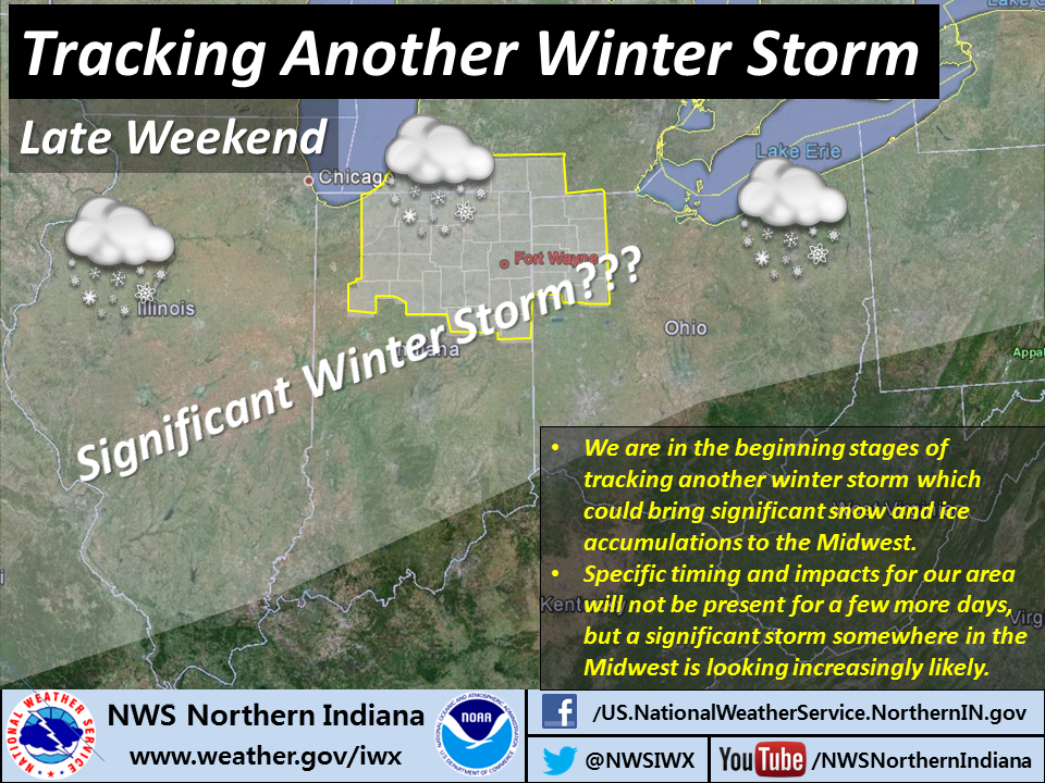 NWS infographic on coming winter storm