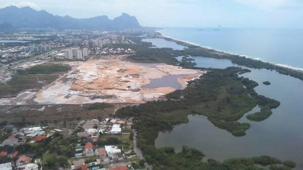 """Current state of Rio's Olympic golf course (via @geostadia) """"Sand wedge please"""" http://t.co/XVWM7zpghe"""