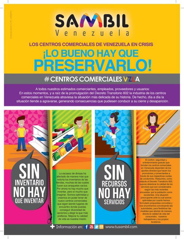 Muy dificil operar con el decreto#602 del Pres @NicolasMaduro mas de 2.4 millones de personas nos visitan a diario http://t.co/TttGUVlLdq