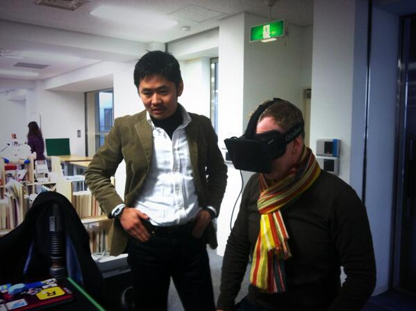 Just had a great visit with @ConcentInc in Tokyo. Got to try their Oculus Rift! (It made me a little sick :/ http://t.co/kMwEGY9i9Q