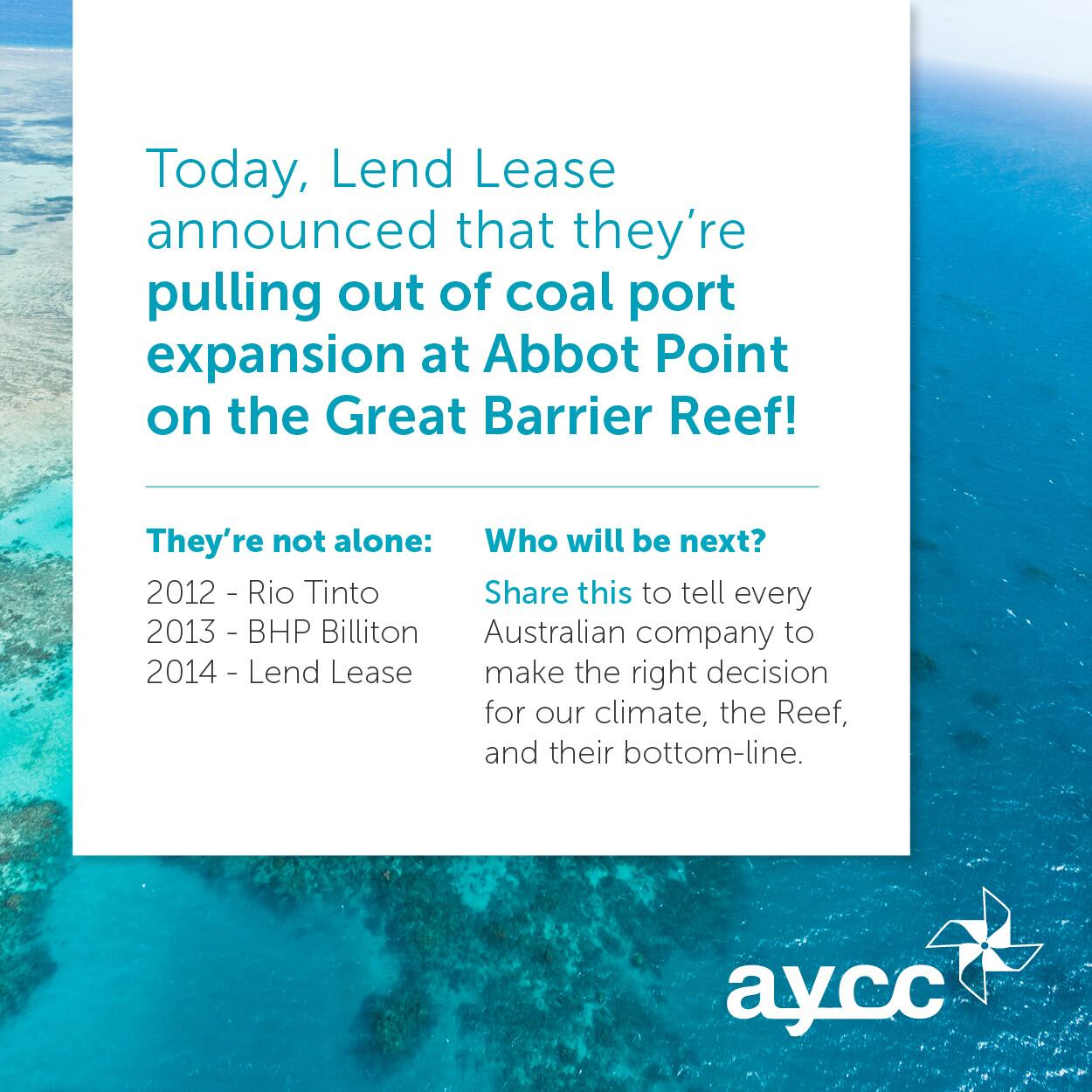 Twitter / AYCC: A huge win for the #Reef today ...