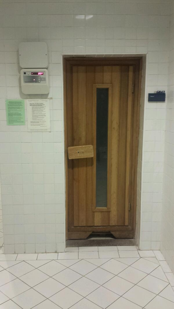 AUC has it all! A sauna in the sports center. #JRMC202 #JRLWeb http://t.co/BSr5BxVzOe