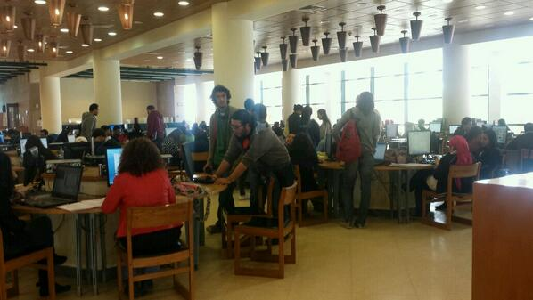 Students in the AUC library working on their academic excellence.  #JRMC202 #JRLWeb http://t.co/Q1OdPo0xJh