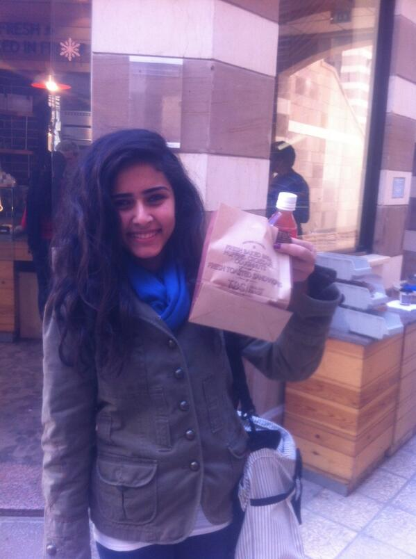 "Rana, an architectural engineering student says ""TBS my favorite eating spot at AUC. Clean & fresh"" #JRMC202 #JRLWeb http://t.co/lnWcTMouAO"
