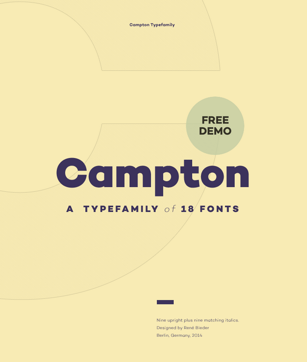 "Brand new free fonts! Download ""Campton"" Light & Bold - http://t.co/fA7z1HxTpr by #@ReneBieder http://t.co/YAtdMZo7RH"