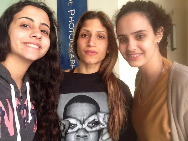 .@HashemYoumna, Sarah Bahaa and myself on a Twitter Scavenger Hunt. #JRMC202 #JRLWeb http://t.co/BfzYZ5tr5s