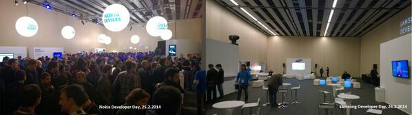 NO COMMENT. #Nokia #Samsung #LOL #MWC14 #NokiaMWC #NokiaDev http://t.co/bAkVHuU2LY