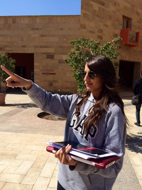 Mayada Hatem, political science: At AUC, I enjoy my studies and I am part of a friendly community. #JRMC202 #jrlweb http://t.co/gXp1Vj7jga
