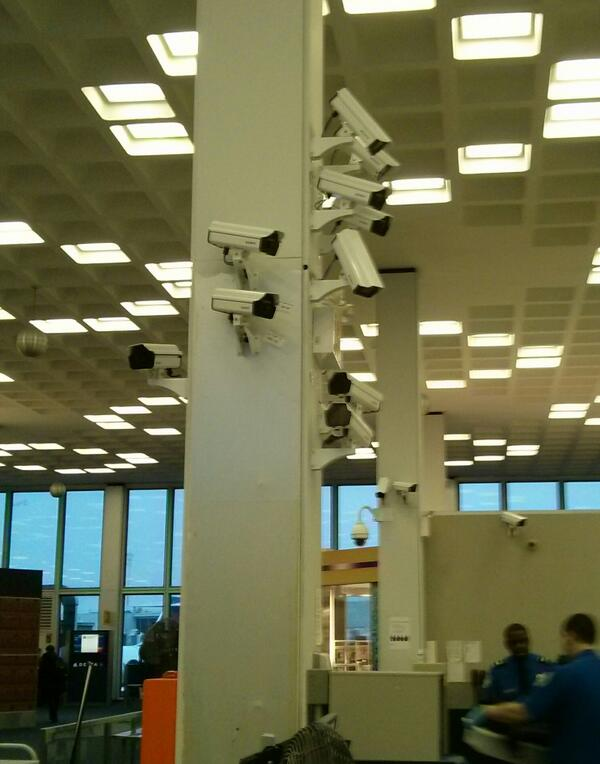 Looks like an art project.  Cctv craziness at JFK http://t.co/1359D51NtQ