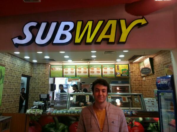 "Mohanad El Sawy , electronics engineering junior, says, ""Subway is healthiest food outlet at AUC."" #JRMC202 #JRLWeb http://t.co/lSGBnCuq5N"