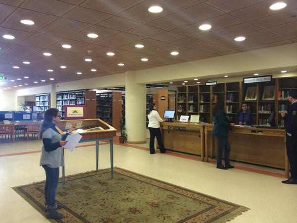 """AUC has a rare books department that has been around since 1919,"" says Help Desk Specialist. #JRMC202 #JRLWeb http://t.co/ETSv1jNSTv"