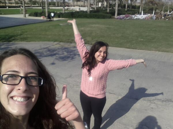 Coincidentally, the AUC gardens is our favorite place to be! #JRMC202 #JRLWeb http://t.co/t6918Az3so