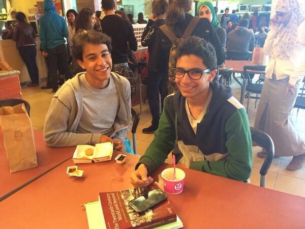 """We love eating at McDonalds,"" say Ali Amer & Adel Osama. #JRMC202 #JRLWeb http://t.co/fp2QLOC433"