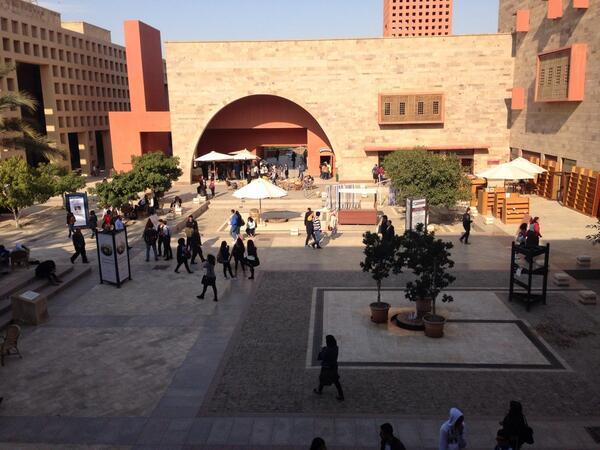 A scenic view of AUC's plaza. #JRLWeb #JRMC202 http://t.co/jmQMjSJ96Y