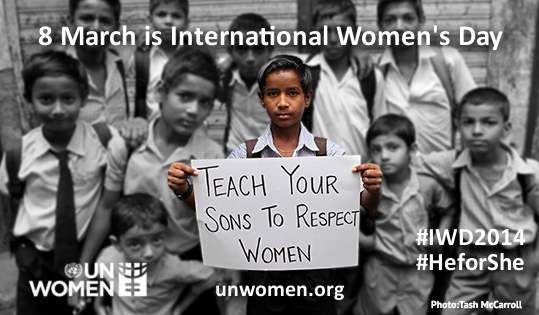 "8 March is Intl #WomensDay! Follow the hashtag #IWD2014 for stories, updates & photos: http://t.co/4Tz1eFbfjB http://t.co/jlC7Xodblh"" @UN"