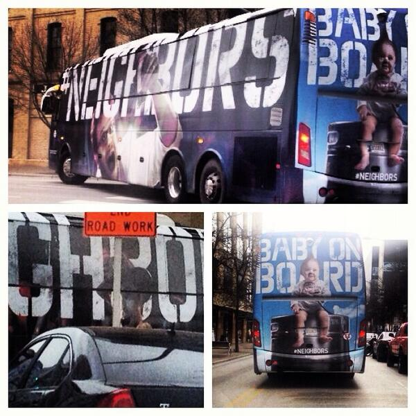 Just followed @neighborsmovie bus around downtown! You on there @zacefron??  How about an interview? #neighbors #fox7 http://t.co/sRBHoo5GBY